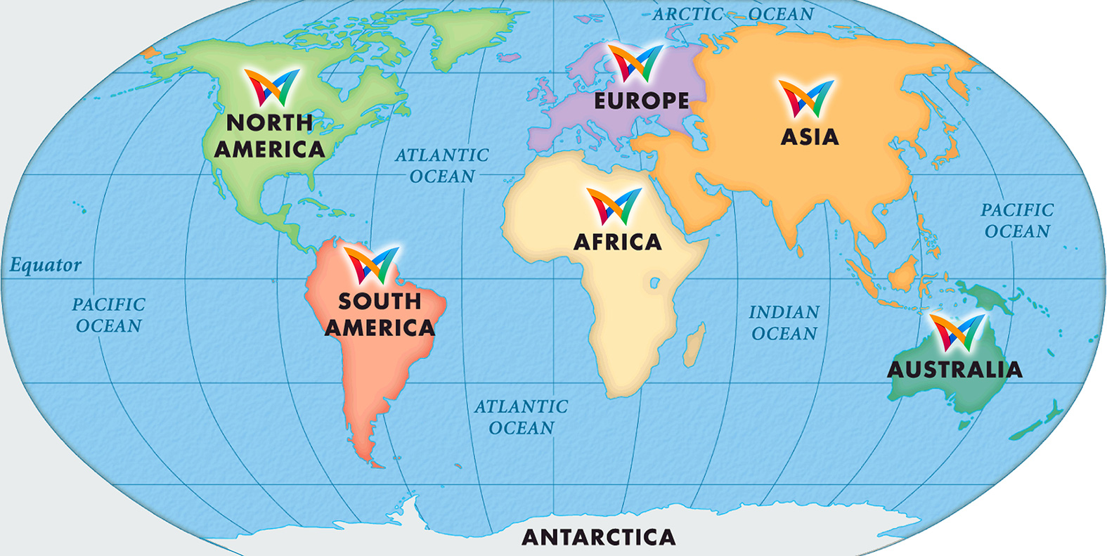 Welcome To MW Group - Six continents of the world